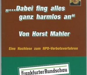 NPD Verbotsverfahren Nachlese Mahler