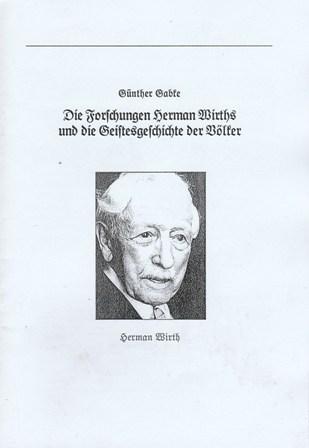Die Forschungen Herman Wirths und die Geistesgeschichte der Völker