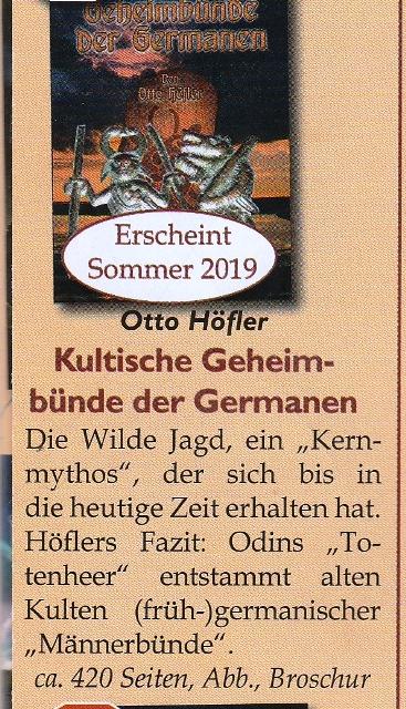 Kultische Geheimbünde der Germanen