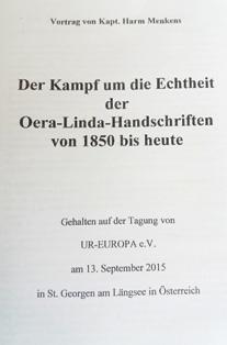 Der Kampf um die Echtheit der Oera-Linda-Handschriften von 1850 bis heute